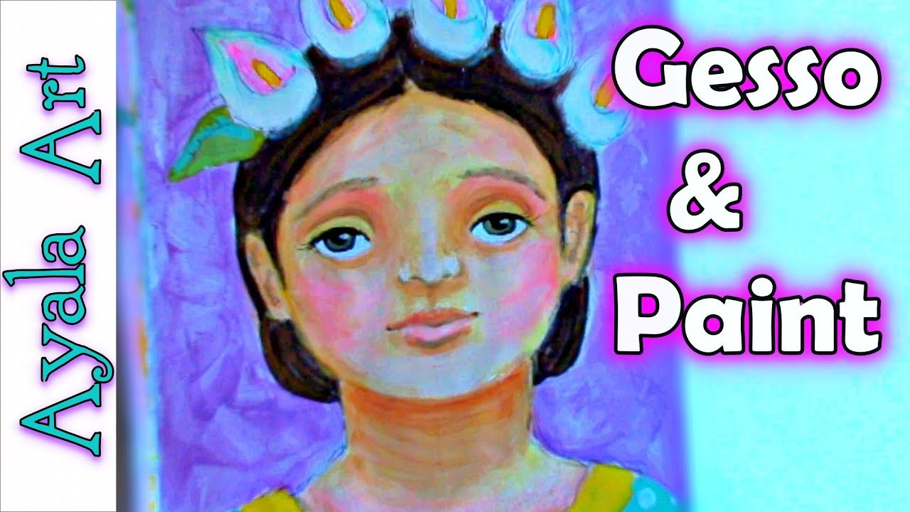 Easy Acrylic Painting Colorful Portrait For Beginners Art Painting Tutorial