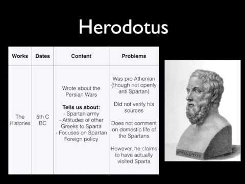 Greek Writers View on Sparta Herodotus