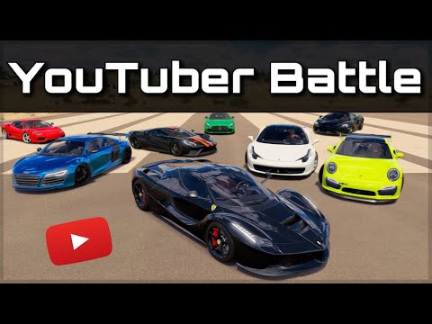 The Ultimate YouTuber Dragrace | Forza Horizon 3 | ft. Mo Vlogs, Salomondrin, JP Performance & more!