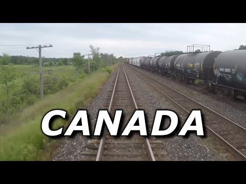 Train Driver View - Canadian Train Journey