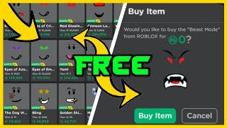 2019 COMMENT GET FREE FACES ON ROBLOX! (TRAVAIL)