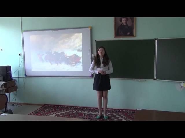 Изображение предпросмотра прочтения – ДарьяЧибизова читает произведение «Бесы» А.С.Пушкина