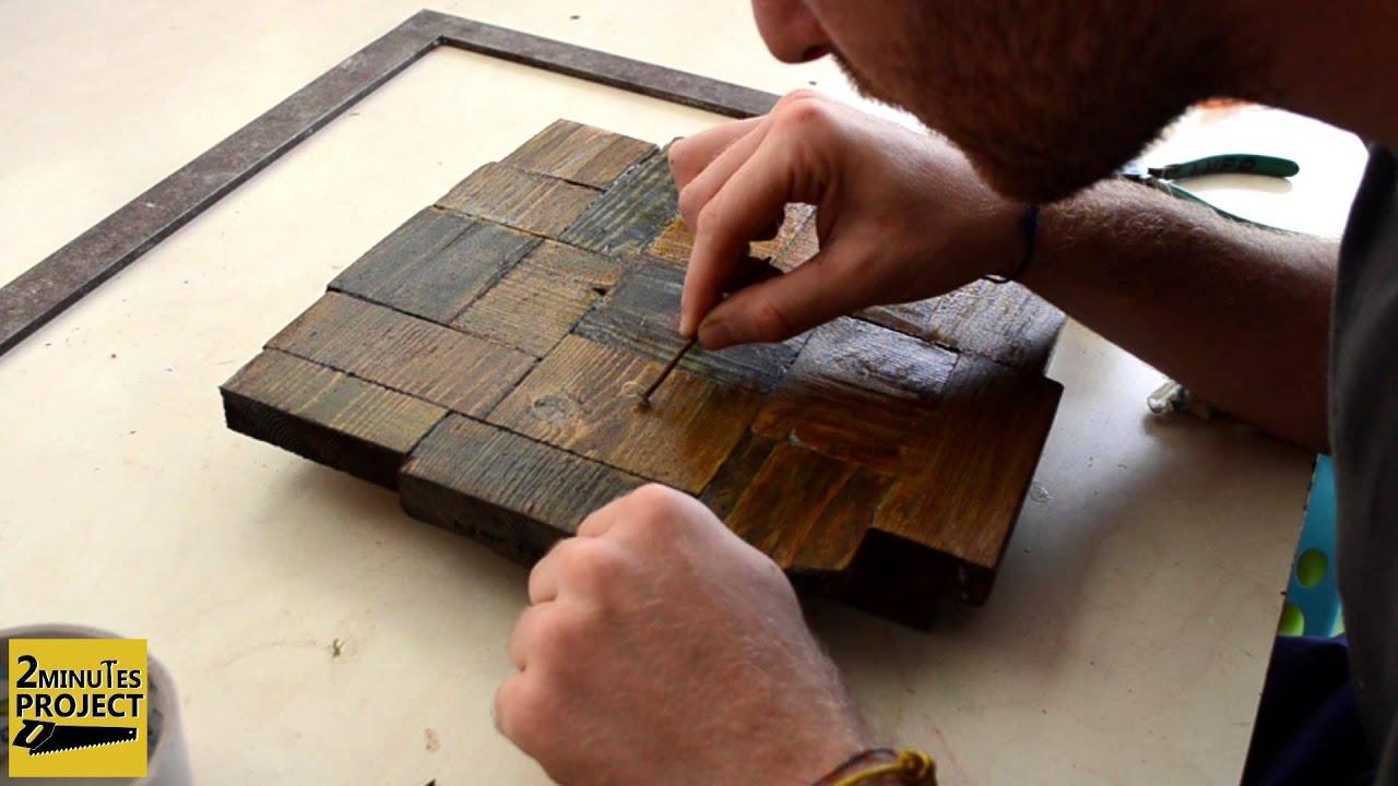 Come costruire un orologio con vecchi pezzi di legno  How
