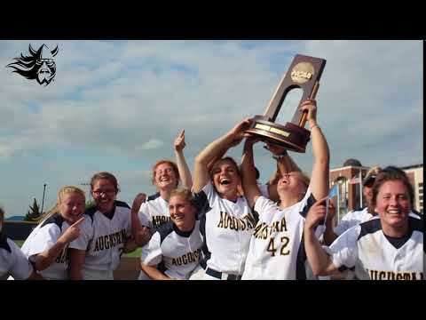 Champs! Augustana Softball Holds Up The Trophy