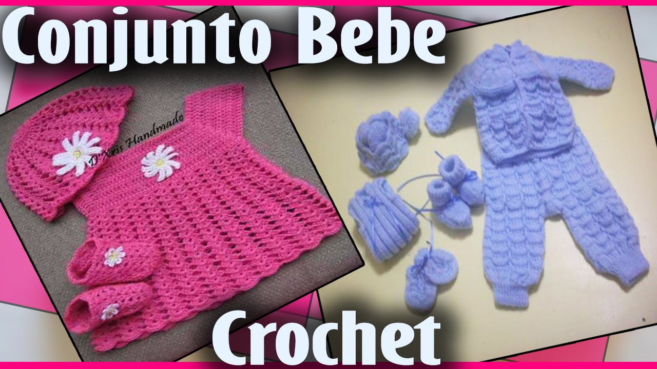 conjunto para bebe   tejido a crochet   youtube