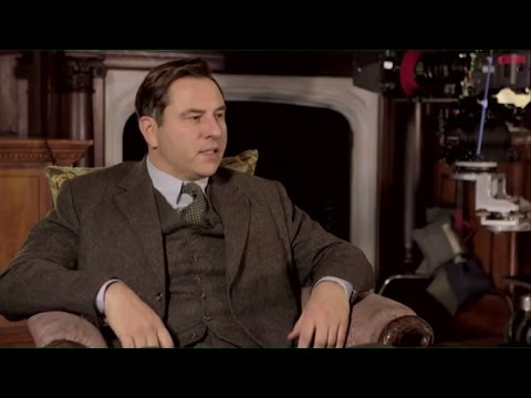 David Walliams and Jessica Raine on playing Tommy and Tuppence.