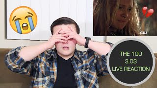the 100 live reaction 3 03 mostly clexa