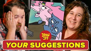 Animator Vs. Cartoonist Draw Subscriber Suggestions • Draw Off
