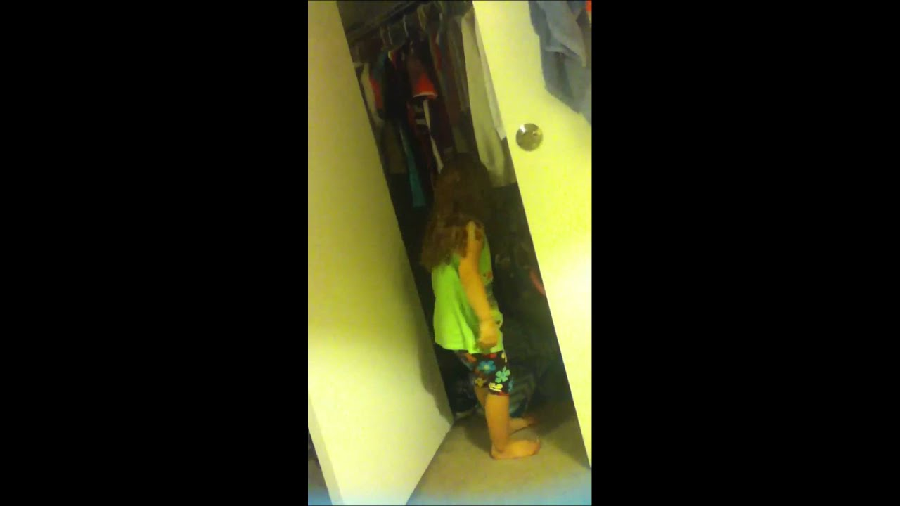 Little girl going to the bathroom in closet  YouTube