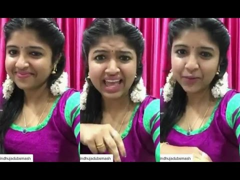 popural cute girl sindhuja dubsmash | Santhanam Dialogue |cineskywood