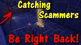 Going AFK Whilst Trading Rare ITEMS! (Scammer Gets Scammed) Fortnite Save The World