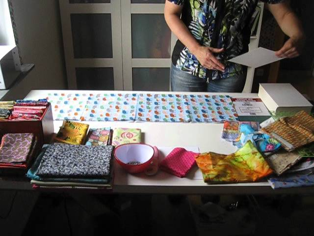 Stoffe falten - folding fabrics