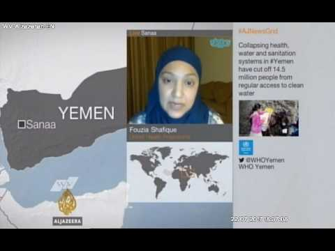 The Head of UNICEF health programme in Yemen interview in Al Jazeera English comments on cholera
