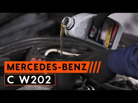 How to replace engine oil and oil filter MERCEDES-BENZ C W202 TUTORIAL AUTODOC