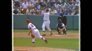 Ted Williams 3 Plate Appearances in 1986 Old Timers Game