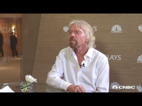 Sir Richard Branson, Virgin founder discusses the company\'s venture into space, as well as competition from Amazon CEO Jeff Bezos.