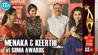 Veteran Actress Menaka Suresh with Husband and Daughter Keerthi Suresh @ SIIMA 2014