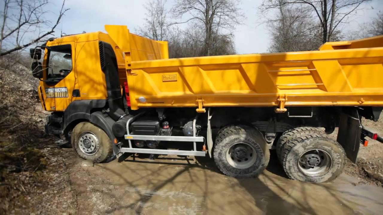 Construction Days 2012 - Renault Kerax 6x6 - YouTube