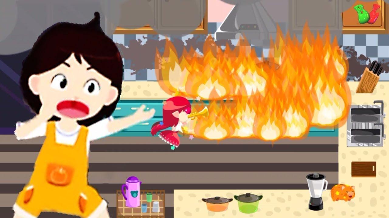 БЕЗОПАСНОСТЬ ДЕТЕЙ При ПОЖАРЕ Что нужно делать при Пожаре Познавательное  Видео для детей