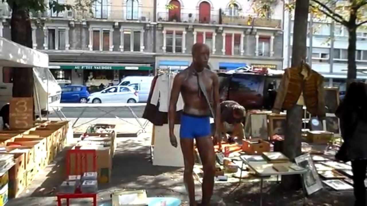 Marche aux puces sur la plaine de plainpalais geneve youtube - Marche aux puces dijon ...