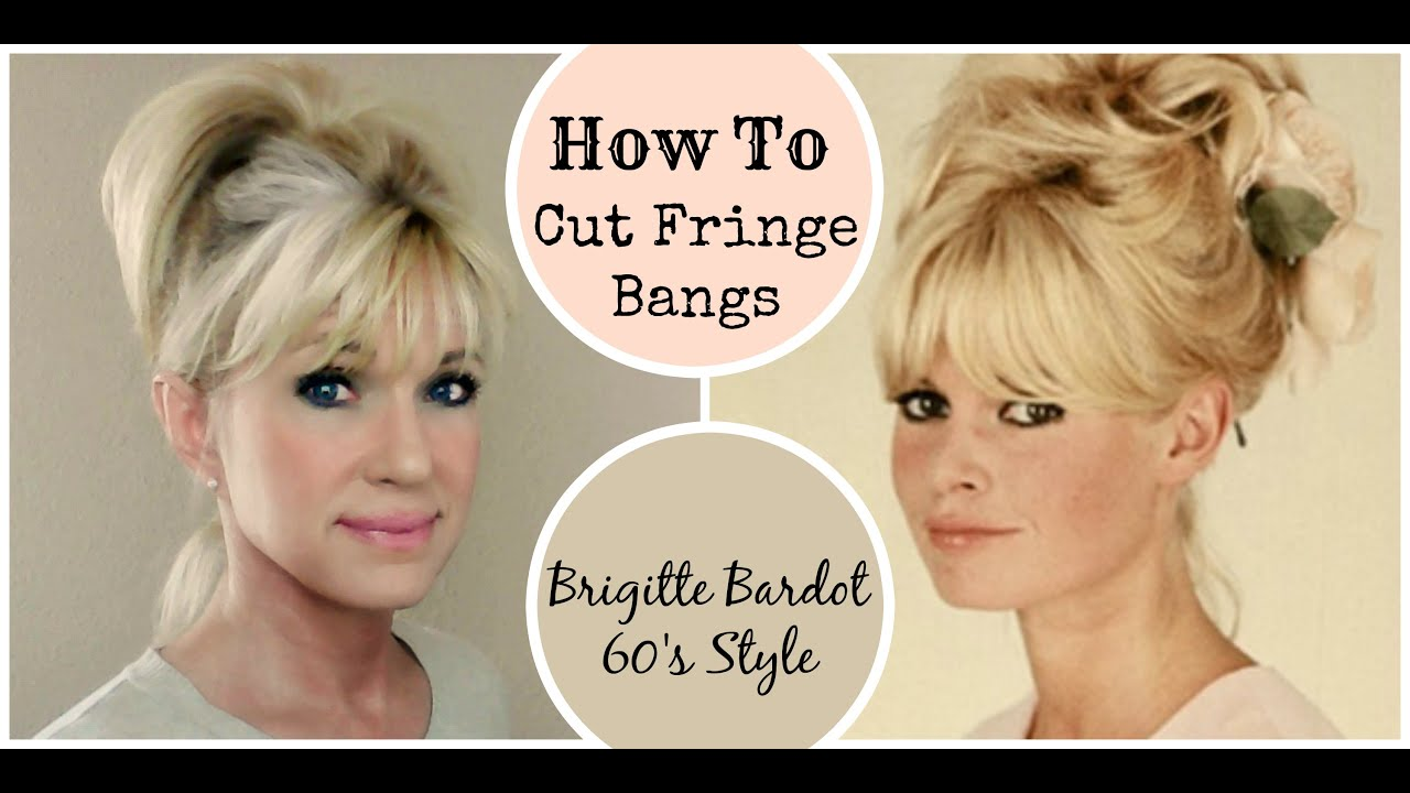 how to style short hair with bangs and layers how to cut fringe bangs demo brigitte bardot 60 s style 9714 | maxresdefault