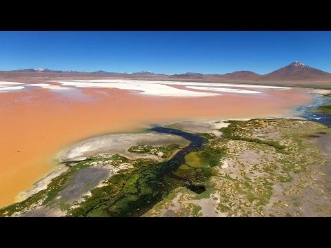 Atacama Desert: Aerial view of most beautiful places of Atacama (Bolivia and Chile), 4k UHD