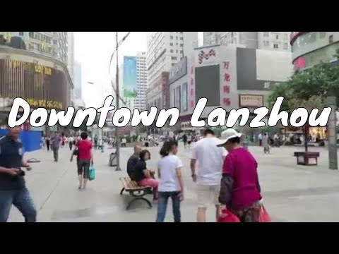 Downtown Lanzhou, China