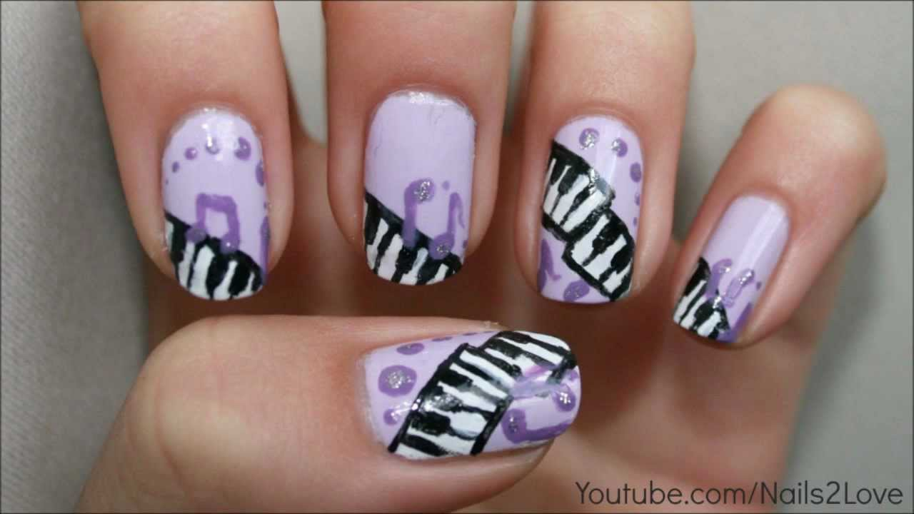 Music Piano Keys And Notes Nail Art Tutorial My Entry To Roslion90 S Contest You