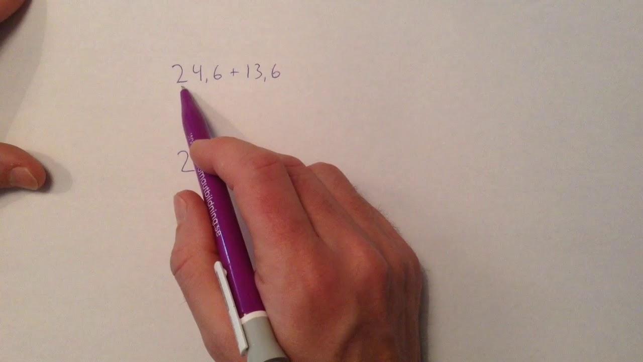 Film 197  Uppställning  Addition med decimaltal - YouTube 505d80bde361c