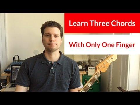Start Learning Guitar | One Finger Chords | Lesson