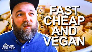 Fast, Cheap, and Easy Beginner Vegan Meals | 5 minutes and under $2 per serving