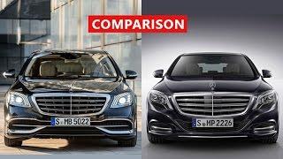 2018 Mercedes-Benz S-Class vs 2017 Mercedes-Maybach S-Class Comparison - Walkthrough...