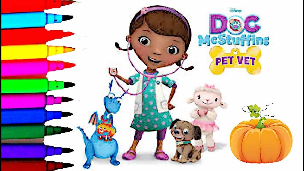 Disney Junior Doc McStuffins Pet Vet Halloween Coloring