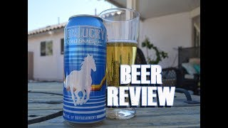 Montucky Cold Snack Lager Beer Review - Bonnie Springs Nevada