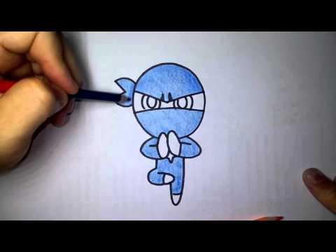 (ระบายสี) วาดการ์ตูน กันเถอะ สอนวาดรูป การ์ตูน คุกกี้ นินจา จาก การ์ตูน คุกกี้รัน