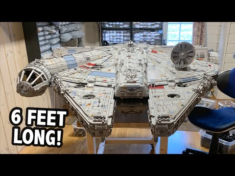 Massive LEGO Millennium Falcon – 55,000 Pieces!
