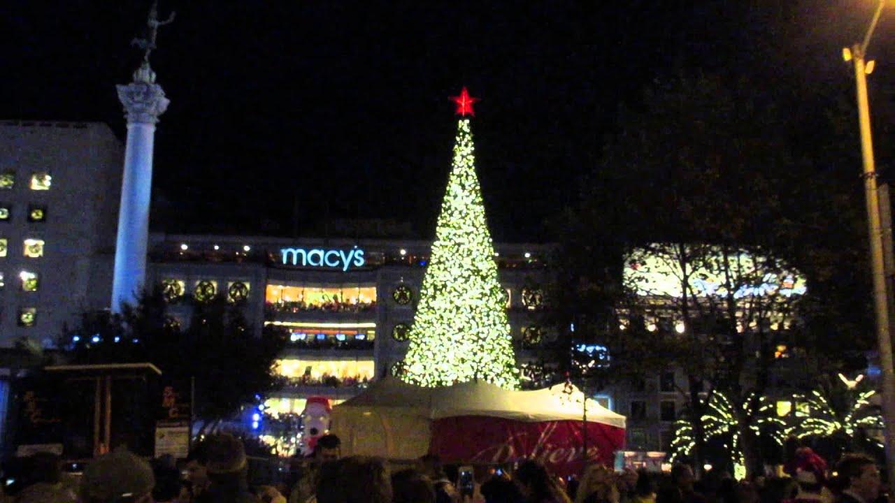 Great Tree Lighting Ceremony Union Square San Francisco California 2015