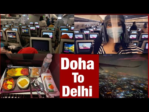 Travelling from Doha to Delhi   Qatar to India   Qatar airways   International Airports   #India #UA