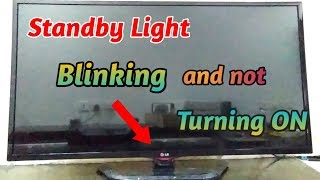 Standby Light Blinking and Not Turning ON LG LED TV Repair Tagalog