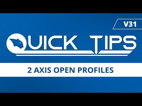 2 Axis Open Profiles - BobCAD-CAM Quick Tips: V31
