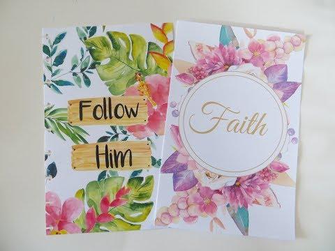"NEW Lot95 Journals for August ""Follow Him"" & ""Faith"""