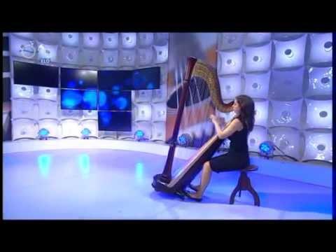 """Donizetti: Harp solo from """"Lucia di Lammermoor"""" , interview LIVE (Farkas Mira)"""