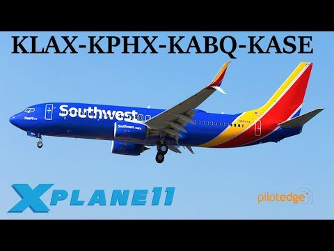 X-Plane 11 | Back on the PilotEdge Network! | KLAX-KPHX-KABQ-KASE | B737 A319 | VATSIM | New Aspen!!