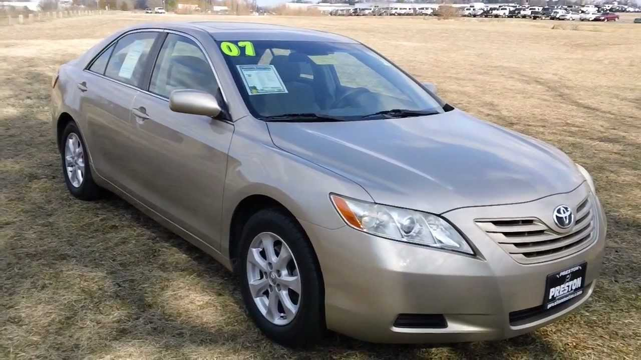 Used Cars For Maryland 2007 Toyota Camry Le High Miles Priced To You