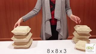 Compostable Fiber Clamshell Containers Demonstration By Good Start Packaging