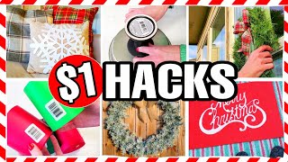 10 Christmas DOLLAR TREE HACKS EVERYONE SHOULD KNOW ABOUT!... cheap, easy & legit