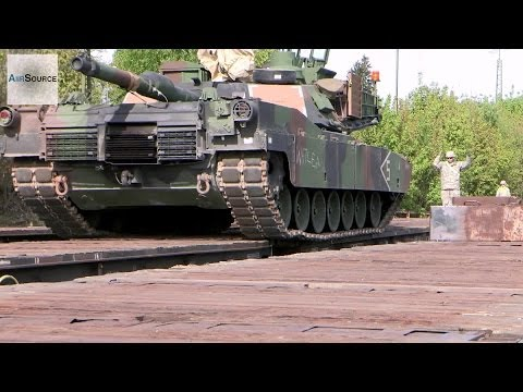 Unloading M1 Abrams at Train Station