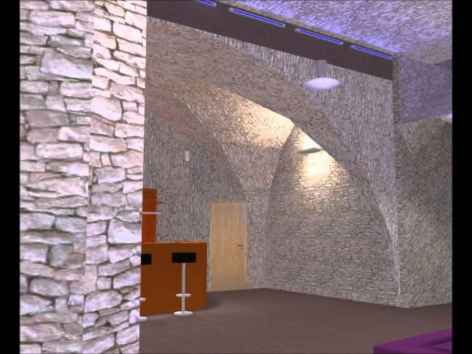 projet d 39 clairage d 39 un bar avec dialux 2 0 youtube. Black Bedroom Furniture Sets. Home Design Ideas