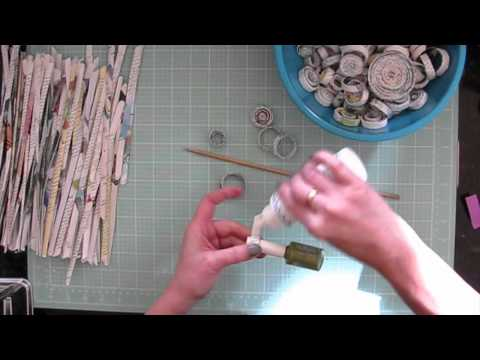 Rolled Paper Christmas Ornaments Part 1
