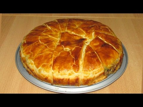 Слоеный пирог с мясом и